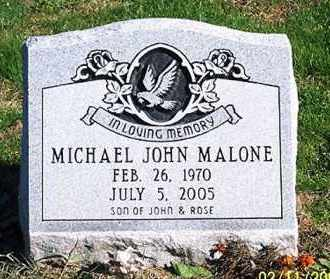 MALONE, MICHAEL JOHN - Ross County, Ohio | MICHAEL JOHN MALONE - Ohio Gravestone Photos