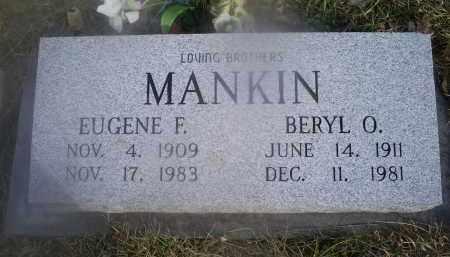 MANKIN, EUGENE F. - Ross County, Ohio | EUGENE F. MANKIN - Ohio Gravestone Photos