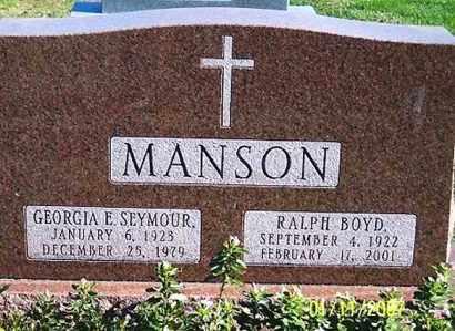 MANSON, RALPH BOYD - Ross County, Ohio | RALPH BOYD MANSON - Ohio Gravestone Photos