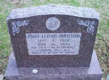 MANSON, JOHN LLOYD - Ross County, Ohio | JOHN LLOYD MANSON - Ohio Gravestone Photos