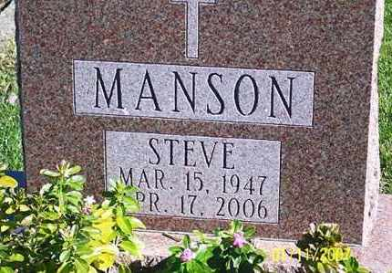 MANSON, STEVE - Ross County, Ohio   STEVE MANSON - Ohio Gravestone Photos