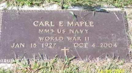 MAPLE, CARL E. - Ross County, Ohio | CARL E. MAPLE - Ohio Gravestone Photos