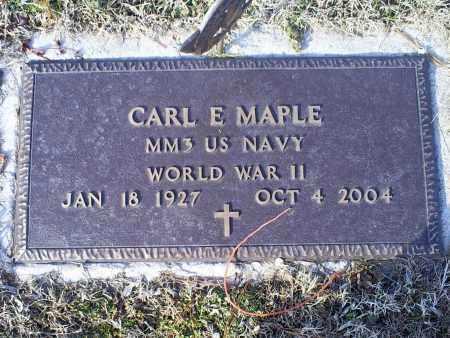 MAPLE, CARL E. - Ross County, Ohio   CARL E. MAPLE - Ohio Gravestone Photos