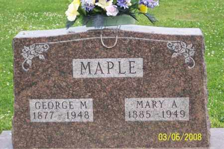 MAPLE, MARY A. - Ross County, Ohio | MARY A. MAPLE - Ohio Gravestone Photos