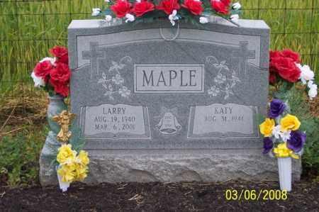MAPLE, LARRY - Ross County, Ohio | LARRY MAPLE - Ohio Gravestone Photos