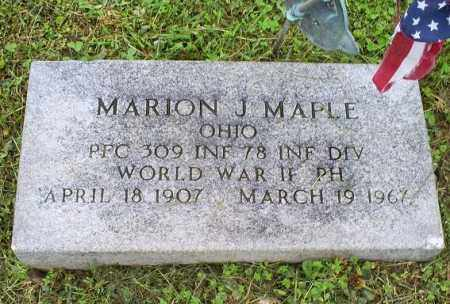 MAPLE, MARION J. - Ross County, Ohio | MARION J. MAPLE - Ohio Gravestone Photos