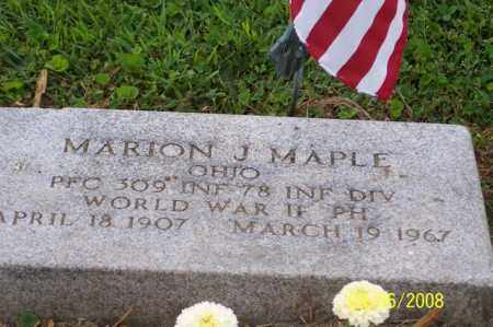 MAPLE, MARION J. - Ross County, Ohio | MARION J. MAPLE - Ohio Gravestone Photos