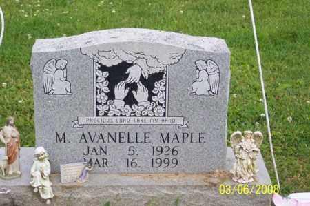 MAPLE, M. AVANELLE - Ross County, Ohio | M. AVANELLE MAPLE - Ohio Gravestone Photos