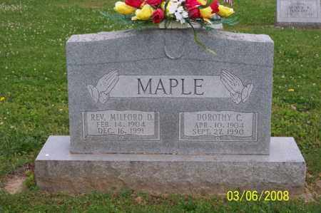 MAPLE, REV MILFORD D. - Ross County, Ohio | REV MILFORD D. MAPLE - Ohio Gravestone Photos