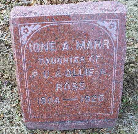 ROSS MARR, IONE A. - Ross County, Ohio | IONE A. ROSS MARR - Ohio Gravestone Photos