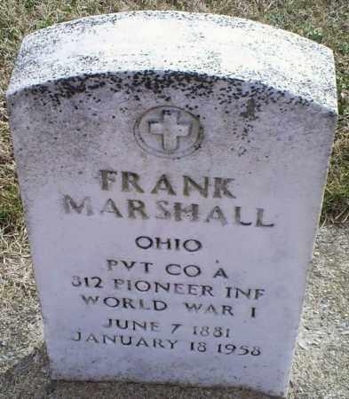 MARSHALL, FRANK - Ross County, Ohio | FRANK MARSHALL - Ohio Gravestone Photos