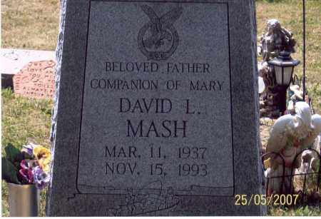 MASH, DAVID L. - Ross County, Ohio | DAVID L. MASH - Ohio Gravestone Photos