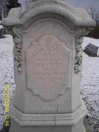 MASSIE, SARAH W. - Ross County, Ohio | SARAH W. MASSIE - Ohio Gravestone Photos