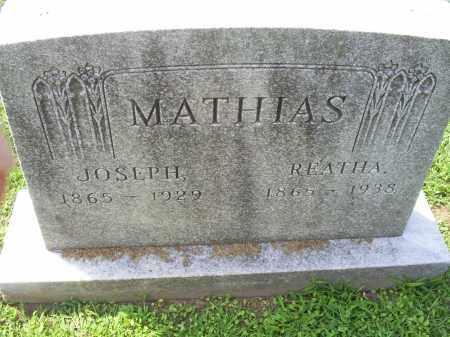 MATHIAS, REATHA - Ross County, Ohio | REATHA MATHIAS - Ohio Gravestone Photos
