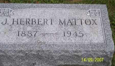 MATTOX, J. HERBERT - Ross County, Ohio   J. HERBERT MATTOX - Ohio Gravestone Photos