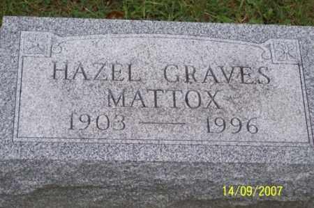 GRAVES MATTOX, HAZEL - Ross County, Ohio | HAZEL GRAVES MATTOX - Ohio Gravestone Photos