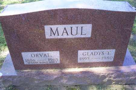 MAUL, ORVAL - Ross County, Ohio | ORVAL MAUL - Ohio Gravestone Photos
