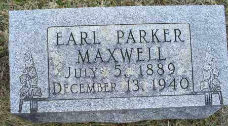MAXWELL, EARL PARKER - Ross County, Ohio   EARL PARKER MAXWELL - Ohio Gravestone Photos