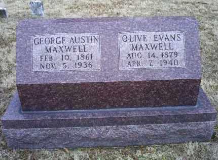 MAXWELL, OLIVE - Ross County, Ohio | OLIVE MAXWELL - Ohio Gravestone Photos