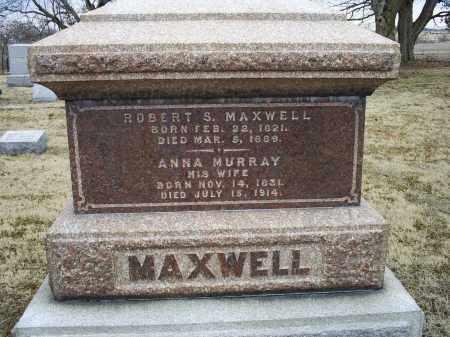 MAXWELL, ROBERT S. - Ross County, Ohio | ROBERT S. MAXWELL - Ohio Gravestone Photos