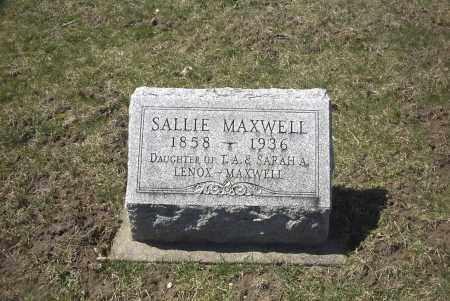 MAXWELL, SALLIE - Ross County, Ohio   SALLIE MAXWELL - Ohio Gravestone Photos