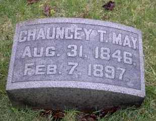 MAY, CHAUNCEY T. - Ross County, Ohio   CHAUNCEY T. MAY - Ohio Gravestone Photos
