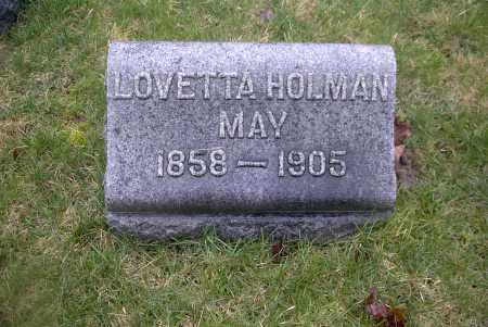 HOLMAN MAY, LOVETTA - Ross County, Ohio | LOVETTA HOLMAN MAY - Ohio Gravestone Photos