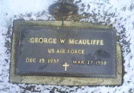MCAULIFFE, GEORGE W. - Ross County, Ohio   GEORGE W. MCAULIFFE - Ohio Gravestone Photos