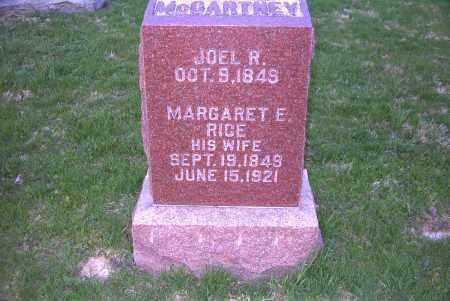 RICE MCCARTNEY, MARGARET ELLEN - Ross County, Ohio | MARGARET ELLEN RICE MCCARTNEY - Ohio Gravestone Photos
