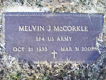 MCCORKLE, MELVIN J. - Ross County, Ohio   MELVIN J. MCCORKLE - Ohio Gravestone Photos