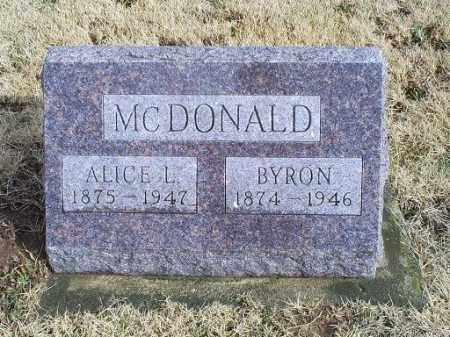 MCDONALD, ALICE L. - Ross County, Ohio | ALICE L. MCDONALD - Ohio Gravestone Photos