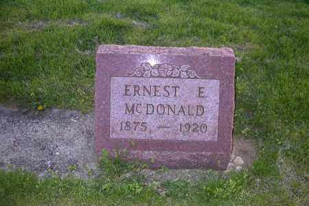 MCDONALD, ERNEST E. - Ross County, Ohio   ERNEST E. MCDONALD - Ohio Gravestone Photos