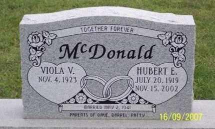 MCDONALD, HUBERT E. - Ross County, Ohio   HUBERT E. MCDONALD - Ohio Gravestone Photos