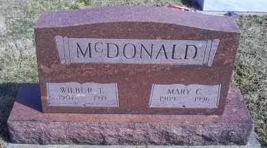 MCDONALD, WILBUR T. - Ross County, Ohio | WILBUR T. MCDONALD - Ohio Gravestone Photos