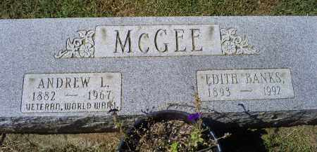 MCGEE, ANDREW L. - Ross County, Ohio | ANDREW L. MCGEE - Ohio Gravestone Photos