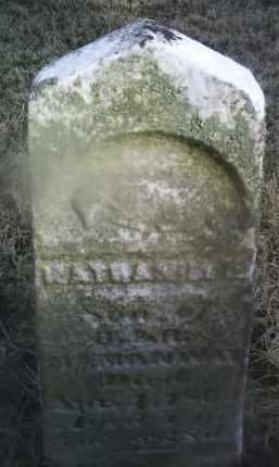 MCMANWAY, NATHANIEL G. - Ross County, Ohio   NATHANIEL G. MCMANWAY - Ohio Gravestone Photos