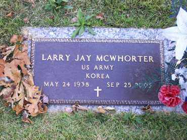 MCWHORTER, LARRY JAY - Ross County, Ohio | LARRY JAY MCWHORTER - Ohio Gravestone Photos