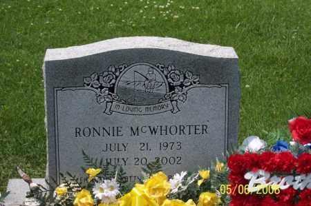 MCWHORTER, RONNIE - Ross County, Ohio | RONNIE MCWHORTER - Ohio Gravestone Photos