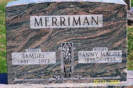 MAGILL MERRIMAN, FANNY - Ross County, Ohio | FANNY MAGILL MERRIMAN - Ohio Gravestone Photos