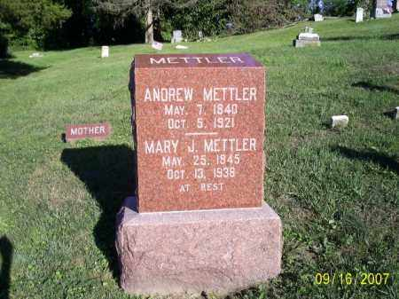 LIGGETT METTLER, MARY JANE - Ross County, Ohio | MARY JANE LIGGETT METTLER - Ohio Gravestone Photos