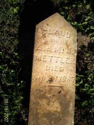 METTLER, CLAUD - Ross County, Ohio | CLAUD METTLER - Ohio Gravestone Photos