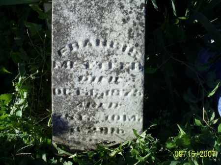 METTLER, FRANCIS - Ross County, Ohio | FRANCIS METTLER - Ohio Gravestone Photos