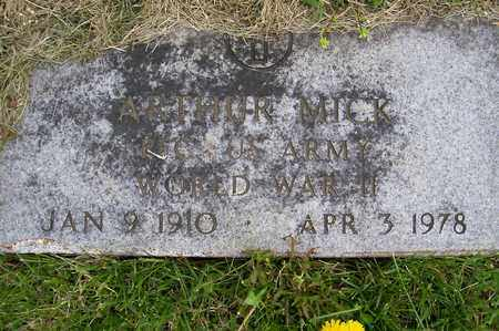 MICK, ARTHUR - Ross County, Ohio | ARTHUR MICK - Ohio Gravestone Photos