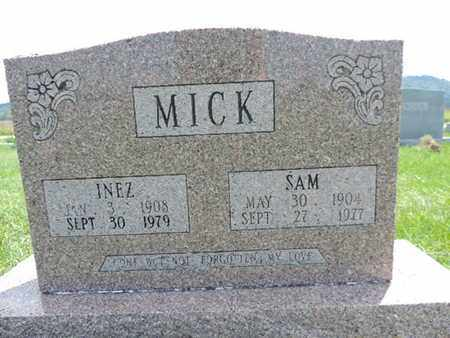 MICK, INEZ - Ross County, Ohio | INEZ MICK - Ohio Gravestone Photos