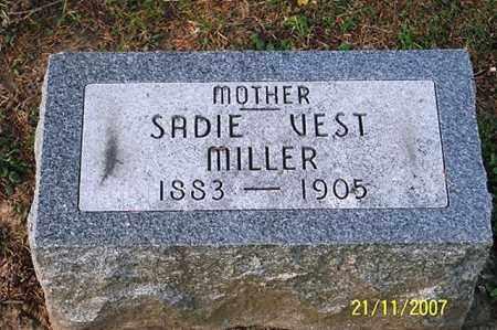 VEST MILLER, SADIE - Ross County, Ohio | SADIE VEST MILLER - Ohio Gravestone Photos
