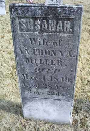 MILLER, SUSANAH - Ross County, Ohio | SUSANAH MILLER - Ohio Gravestone Photos