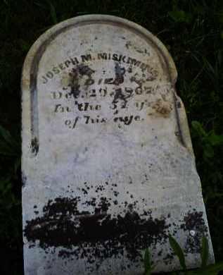 MISKIMINS, JOSEPH M. - Ross County, Ohio | JOSEPH M. MISKIMINS - Ohio Gravestone Photos