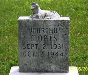 MOATS, MARTHA - Ross County, Ohio | MARTHA MOATS - Ohio Gravestone Photos