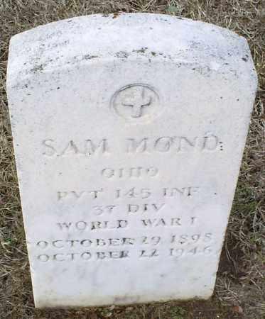 MOND, SAM - Ross County, Ohio   SAM MOND - Ohio Gravestone Photos