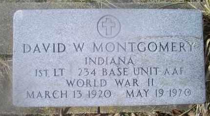 MONTGOMERY, DAVID W. - Ross County, Ohio   DAVID W. MONTGOMERY - Ohio Gravestone Photos